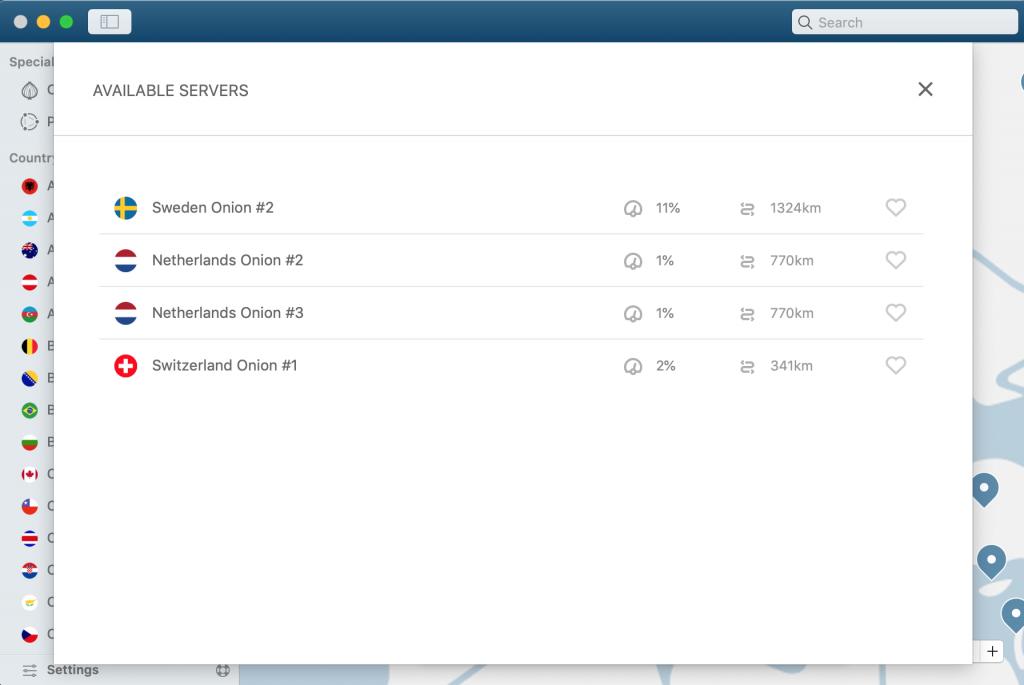 NordVPN Screenshot 2