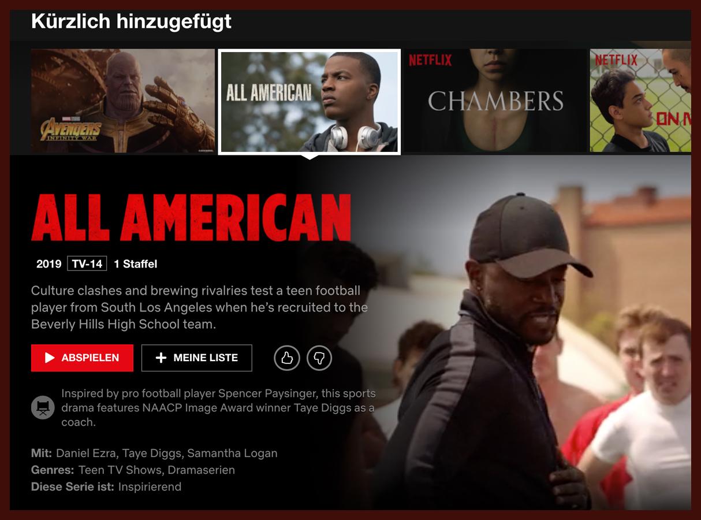 Netflix US All American