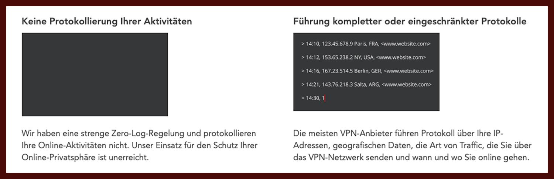 Pure VPN No-Log Vergleich